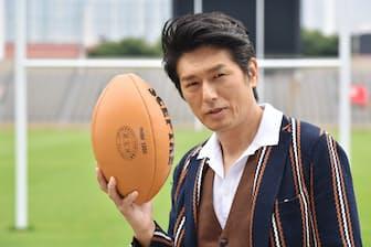 俳優の高橋克典さん(2019年7月、東京都港区の秩父宮ラグビー場)