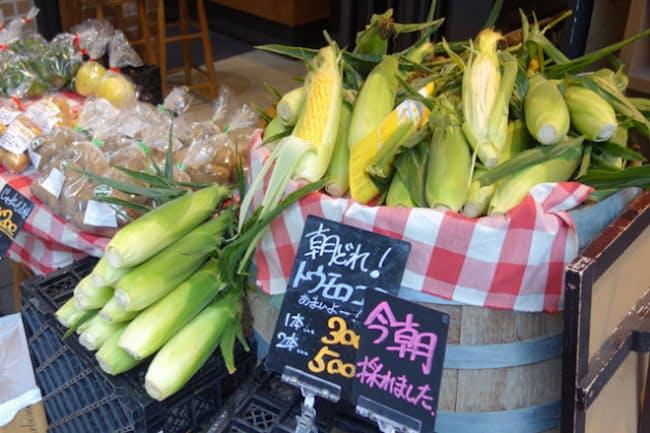 「東京野菜キッチンSCOP」では、年間で500種類もの東京産農産物がメニューに使われ、それらを販売するミニマルシェも不定期で開催される
