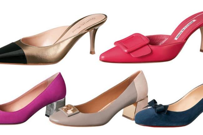 春夏シーズンはフラットシューズが大流行したが、秋からはヒールのあるシックな靴に注目!(NikkeiLUXEより)