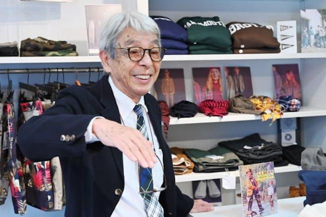 「かつてラルフ・ローレンが、日本の市場はVANが耕しておいてくれたから(参入が)楽だった、と言ったそうですよ」と話す石津祥介さん(東京都渋谷区の「原宿キャシディ」)