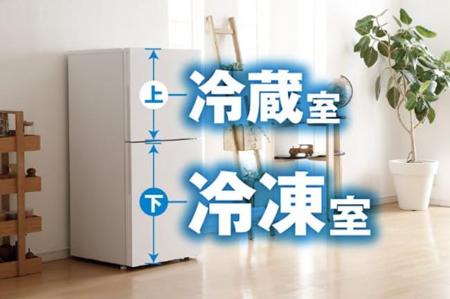 小型ながら冷蔵室と同じ容量の冷凍室を備えるツインバードの「ハーフ&ハーフ」。その狙いを開発者に聞いた