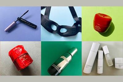 花びら型のフェイスパウダーや、目もと専用EMS、天然精油入りのオーガニックリップなど、使うたびに気分が上がるアイテムが(NikkeiLUXEより)