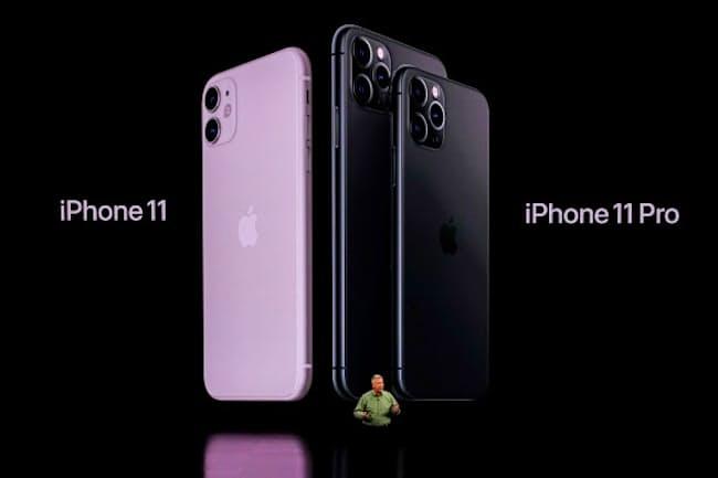 アップルは2019年9月10日(現地時間)、iPhone 11の3機種を発表した(写真:西田宗千佳、以下同)