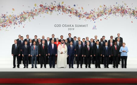 G20大阪サミットでも自国第一主義の流れを止めることはできなかった(2019年6月、大阪市)