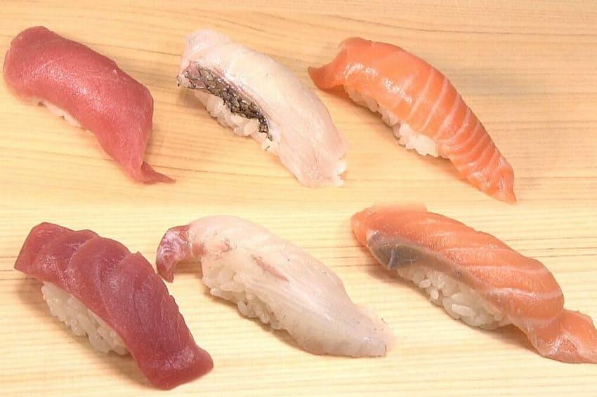 エイジングシートを使った発酵熟成鮮魚のすし
