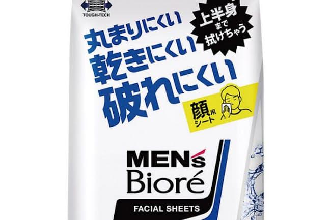メンズビオレ 洗顔シート=写真提供/花王