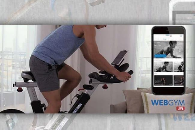 「WEBGYM LIVE」は月額税込み1950円。iPhone、iPad、Apple Watch、Apple TVに対応