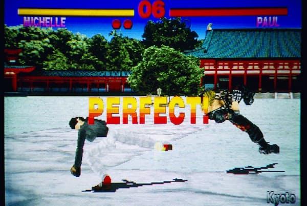 他社の格闘ゲームを追い抜こうと開発した「鉄拳」の画面 (C)BANDAI NAMCO Entertainment Inc.