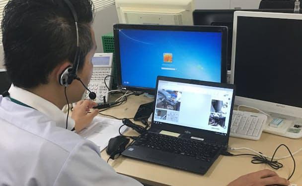 ビデオチャットシステムを活用し、事故状況を遠隔調査する仕組みを導入