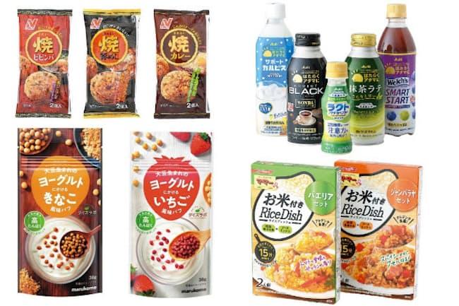 「ワンハンドミール」「『頭活』乳酸菌系飲料」「掛ける大豆」「超早炊き」「大人味アイス」のキーワードで19年下期注目の商品を紹介する