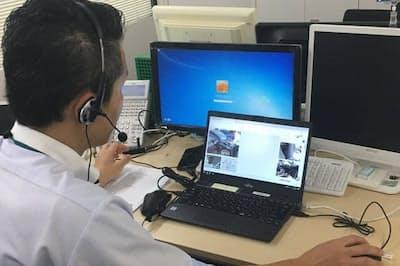 ビデオチャットシステムを活用し、事故状況を遠隔調査する仕組み