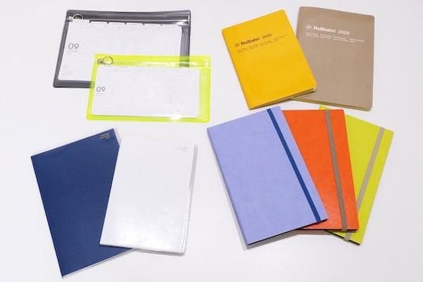 サイズやカラーフォーマットも多彩な2020年マンスリー手帳