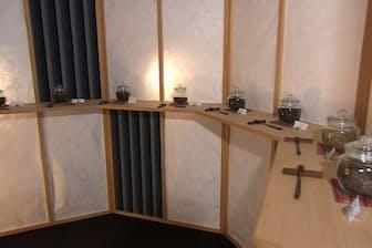 ラウンジには、好みの静岡産茶葉を選べる「お茶バイキング」を用意した