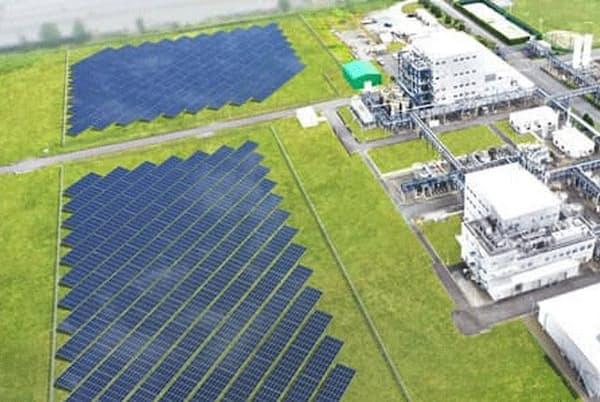 自家消費型の太陽光発電設備を設置予定の第一三共・小名浜工場(福島県いわき市)