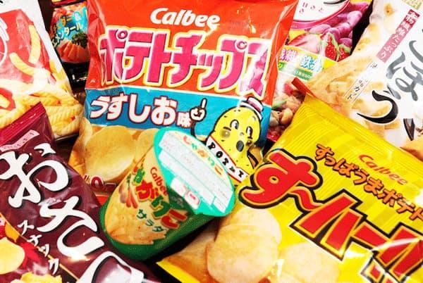 カルビーが取り扱っている「ポテトチップス」などの様々な商品
