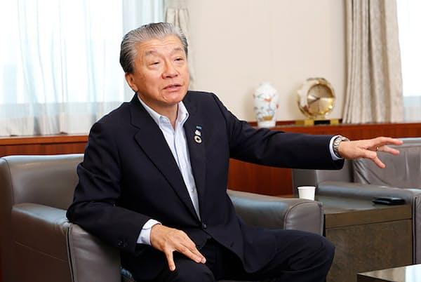 あいおいニッセイ同和損害保険の金杉恭三社長(写真 村田わかな)