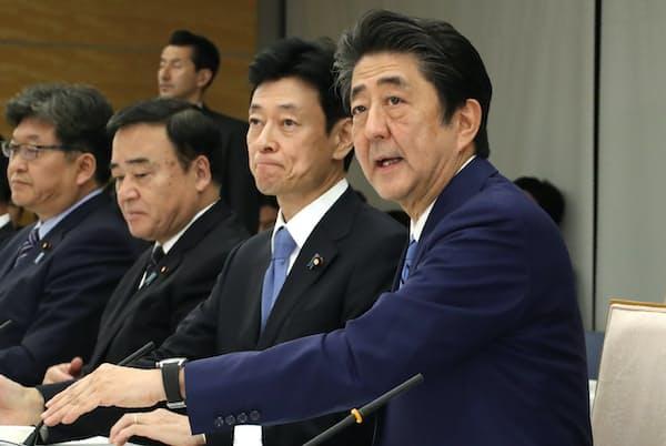 成長戦略の模索は続いているが…(12日、首相官邸での未来投資会議)