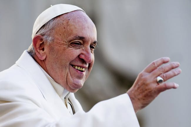 フランシスコは近代以降で初の非西欧世界出身の法王となった(2018年1月)(C)Sipa Press/amanaimages
