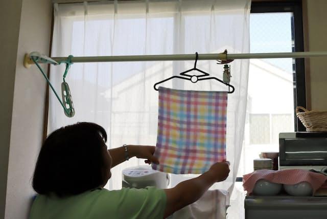 乾燥対策にはぬれたタオルを干すのも有効だ