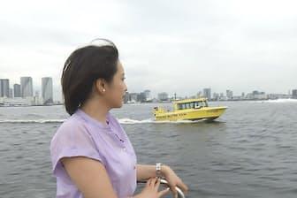 海上タクシーなどを使った「舟運」の整備が再開発のキーワードとなっている
