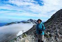 長野県に移住し、趣味の登山を楽しむディスコの今岡美智代さん
