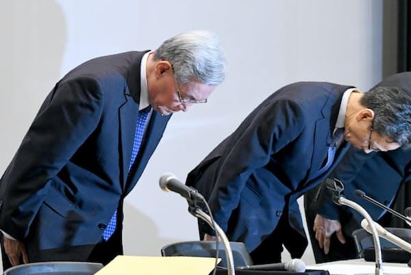関西電力の記者会見(10月9日、大阪市)