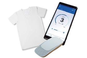 「レオンポケット」は専用のインナーの首元にデバイスを入れるポケットがある。温度調節はスマホで行い、冷却・発熱共に5段階で強弱を設定できる。温度状況などを検知して自動で調節するオートモードも備える