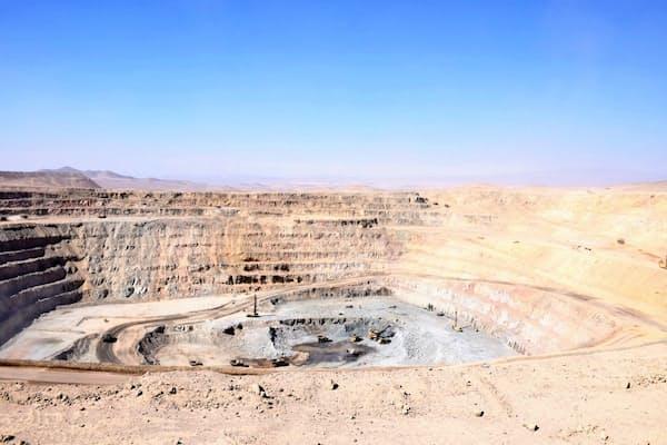 グローバル展開する住友金属鉱山(チリのシエラゴルダ銅鉱山)