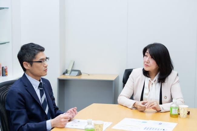 千大輔さん(左)と白河桃子さん