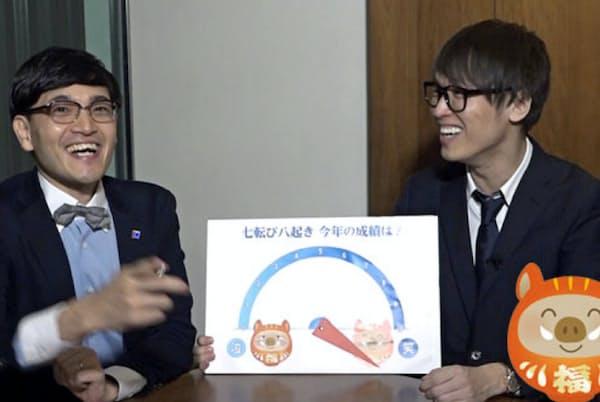 2019年を振り返るツワモノ投資家の井村俊哉さん(左)とテスタさん