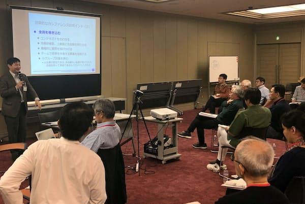 総合医の認定を目指す医師が参加するノンテクニカルスキルの講習会(2019年11月、東京都)