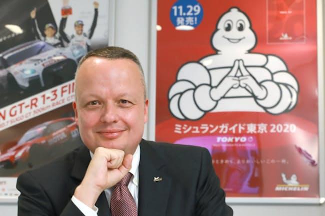 日本ミシュランタイヤ ポール・ペリニオ社長