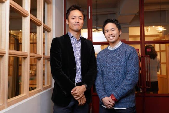NPO法人クロスフィールズ代表理事、小沼大地さん(左) 慶応義塾大学3年の吉野裕斗さん(右)