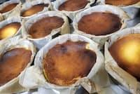 昨年、大ヒットしたバスク風チーズケーキ。「オーブン・ミトン」ではブームの前から提供し、人気を誇る