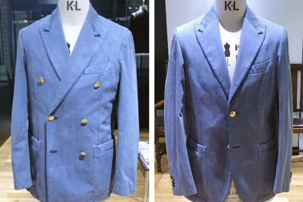 ダブルのジャケットをシングルに作り直すこともできる