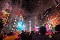 全米が注目するタイムズスクエアのカウントダウン(c)Julienne Schaer/ NYC & Company