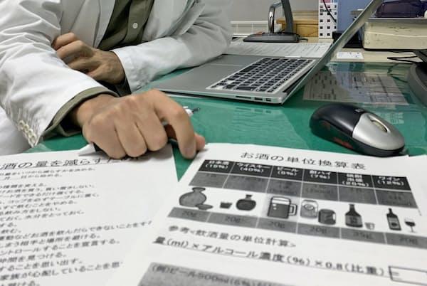久里浜医療センターの「減酒外来」では、医師と摂取するアルコールの目標値を決める