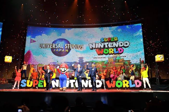 USJのSUPER NINTENDO WORLDでは、マリオになって冒険できるテクノロジーが実装される(写真:水野浩志、以下同)