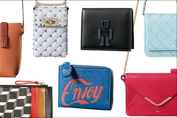 ハンズフリーで外出できるウォレットバッグに、小銭をスマートに収納してくれるコインケース。あなたのお気に入りはどれ?(NikkeiLUXEより)