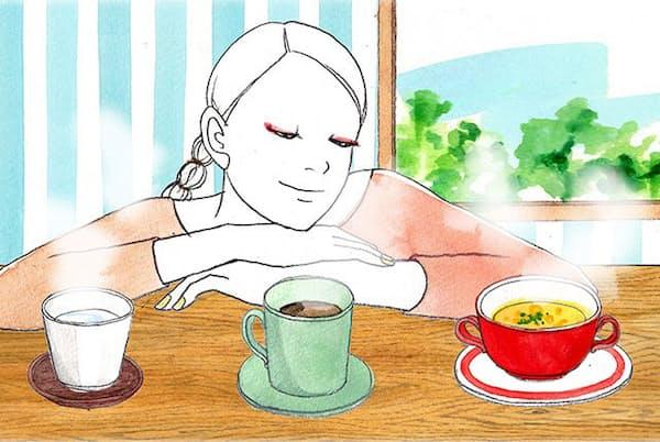 温かいコーヒー、白湯、コーンスープの3つのうち、もっとも体を温めるものとは(NikkeiLUXEより)