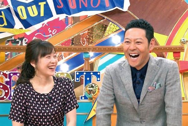 『その他の人に会ってみた』 MCの東野幸治と番組を進行するのは、江藤愛アナウンサー。『ひるおび』なども担当する正統派ということで、あえて違和感を狙っている(火曜23時56分/TBS系)