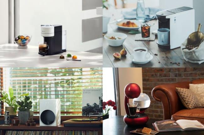 カプセルをセットするだけで簡単にひきたての味を楽しめるカプセル式コーヒーメーカーを紹介する