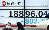 日経平均株価は3月10日、約1年3カ月ぶりに1万9000円を割り込んだ