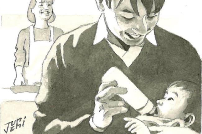 まず大事なのは、一人では重すぎる子育ての負担を分担することだ=イラスト・よしおか じゅんいち