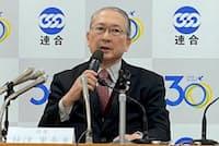 2020年春季労使交渉に向けた共同インタビューに応じる連合の神津里季生(りきお)会長(22日、東京・千代田)