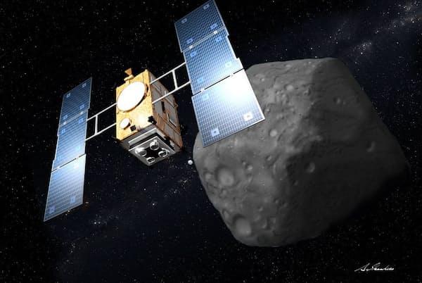 「はやぶさ」の成功を受け、より詳細な小惑星探査を狙う「はやぶさ2」のプロジェクトが実現することになった(イラスト:池下章裕氏)