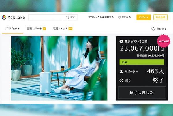 2019年11~12月、クラウドファンディングサイトMakuakeで約2300万円を集めた「キャリミー」。リターンはキャリミー1台で、20年6月に支援者に発送予定