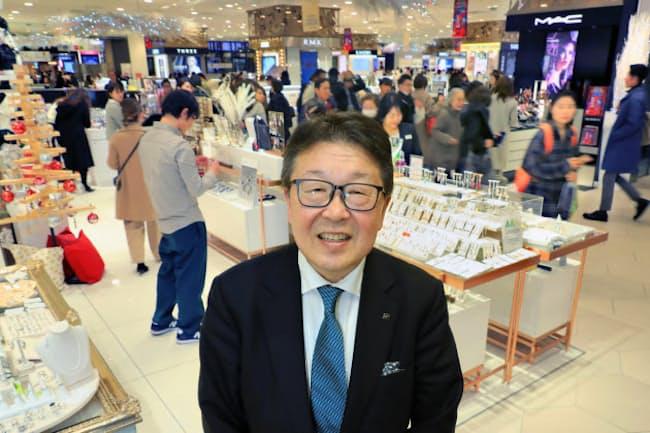 近鉄百貨店の秋田拓士社長