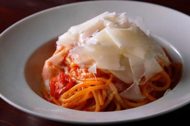 シメにはロディジャーノチーズたっぷりのスパゲティがお薦め
