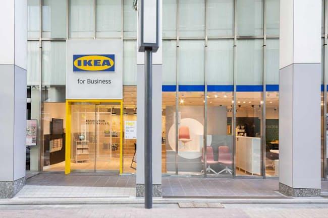 東京都渋谷区道玄坂に開店した「IKEA for Business」。総面積は455平方メートル。JR渋谷駅からは徒歩約3分の位置